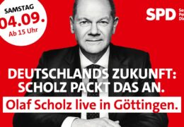 Olaf Scholz live in Göttingen
