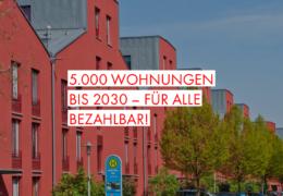 5.000 Wohnungen bis 2030 – für alle bezahlbar!